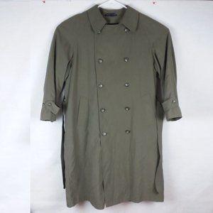 Chaps Ralph Lauren Trench Coat Micro Fiber Wool